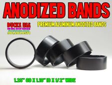 """Duck Call Band Black Anodized Alum Special 5-Pack 1.25"""" x 1.10"""" x .5"""""""