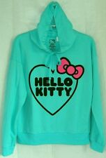 Hello Kitty Pullover Sweatshirt GREEN GREAT GIFT FREE USA SHIPPING XSMALL NWT