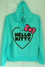 Hello Kitty Pullover Sweatshirt GREEN BACK TO SCHOOL FREE USA SHIPPING XSMALL