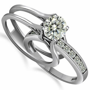 1.75Ct Engagement Ring And Wedding Band 2 Piece Set in 10K Solid Gold