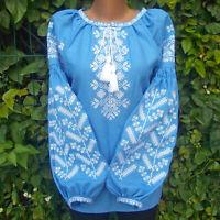 Embroidered Blouse Top Sorochka Vyshyvanka Tradition Ukrainian shirt Any size
