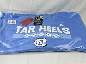 Nike UNC Tar Heels Jumpman  Dri-Fit Therma Blue Hoodie Basketball Jordan S-XL
