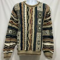 Vtg Murano Chunky Knit Cosby Sweater Men's Size XL Biggie Hip Hop Coogi Style