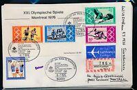 98888) LH Olympiade SF Reco ! Frankfurt - Montreal 9.7.76, MiF5 Sport