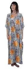 Women's Satin Charmeuse Caftans, Value Pack, 3 Different Prints, Special#12