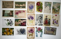 LOT OF 19  GREETINGS ANTIQUE  POSTCARDS