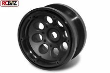 Axial 2.2 8 Hole Beadlock Scale Wheels 2 BLACK AX8097 inc rings and hardware RC