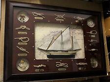 STOCK QUADRO NODI MARINARI SERIE LUSSO ARREDAMENTO MARINO RISTORANTI 70 x 50 Cm.