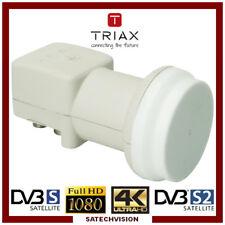 LNB Quad Triax TQD 0,3 dB Gain 65 dB Tête universelle 4 sorties Full HD 3D 4K