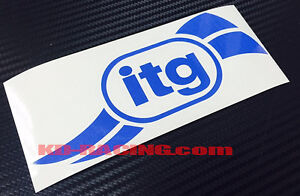 ITG Stickers Decals Air Filter Panel Intake  x 2 pcs.