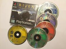 RIVEN THE SEQUEL TO MYST PS1 PLAYSTATION 1 PSone GAME 5-DISC BIG FAT BOX PAL