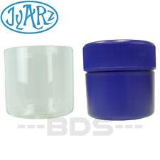 Blue Jyarz Satchmo Storage Container Glass BPA Free USA -Made 2.5x2.5 Herb Jar
