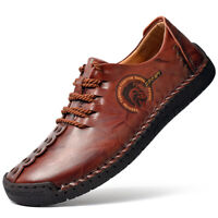 Genuine Leather Moccasins Men's Casual Loafers Shoes Slip on Driving Flat Shoes
