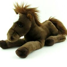 "Aurora Horse Plush Brown Stuffed Animal Toy 12"" Chestnut Flopsie Equine Pony"
