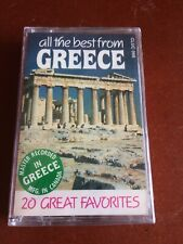 All The Best From Greece: 20 Great Favorites Cassette, Brand New