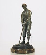 Maitland Smith Handmade Bronze Male Golfer Golf Statue Marble Base Golf Putter