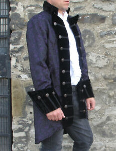 Black Vampire Pirate Gothic Jacket Theatrical Quality Coat Cosplay Steampunk New