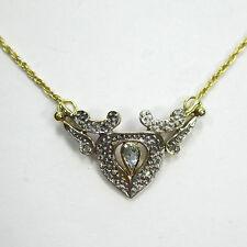 50 - Apartes Collier aus Gold 333 mit Topas und Diamanten ---  1733