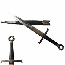 New Sharp Stainless Steel Sword Knife Dagger with Free Board able to Put on Wall