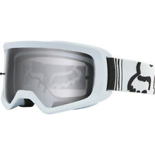 FOX MAIN 2 RACE WHITE CLEAR GOGGLES ADULT