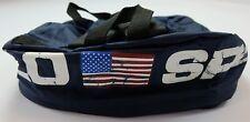 Rare VTG POLO SPORT Ralph Lauren Spell Out USA Flag Square Backpack 90s Stadium