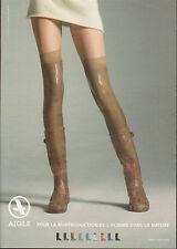 Publicité  2009  AIGLE chaussures bottes