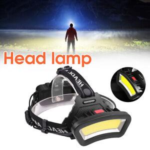COB LED Headlamp Head Torch Lamp Headlight Night Indicator Running Flashlight UK