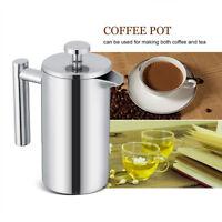 350ml Edelstahl Kaffeebereiter Kaffeepresse Kaffeezubereiter Kaffee-&Teebereiter