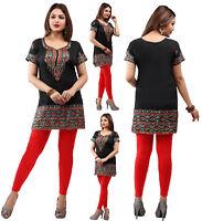 UK STOCK- Women Casual Indian Short Kurti Tunic Kurta Top Shirt Dress 172A