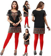 UK STOCK- Women Casual Indian Short Kurti Tunic Kurta Top Shirt Dress 172A