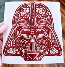 Star Wars Inspired Darth Vader Helmet Sugar Skull Vinyl Decal for Car, Home, Ele