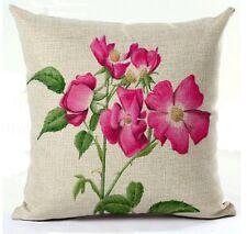 Kissenhülle Kissenbezug Motivkissen floral Wildrose Canvas-Stoff