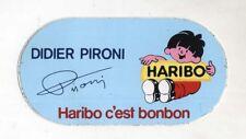 Adesivo Formula 1 DIDIER PIRONI F1 Sponsor HARIBO Promo sticker anni 80