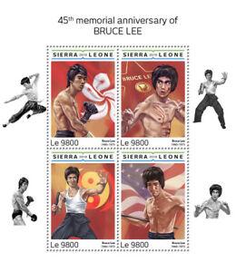 Sierra Leone Famous People 2018 MNH Bruce Lee Martial Arts Actors 4v M/S