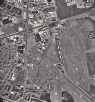 Vintage Arial PHotograph of Long Island NY - Airport Runway - High Detail
