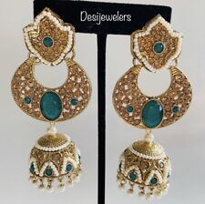 Indian Bollywood Fashion Chand Bali/Jhumka/Jhumki Earrings Jewelry Party-ware