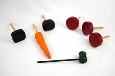 Snowman Kit Wooden Eyes, Carrot Shaped Nose, 3 Buttons Pipe Outdoor Winter Play