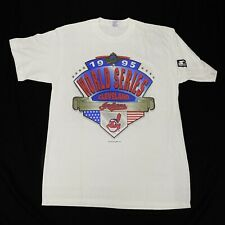 VTG Starter Cleveland Indians 1995 World Series Single Stitch Tee Size Medium