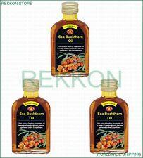 100% Organic Extra Virgin Sea Buckthorn Oil 3x100ml 10.5 oz High Quality