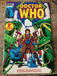 Doctor Who #1 (Oct 1984, Marvel) GREAT CONDITION!   SEE CLOSE UP PICS!  FREE SH!