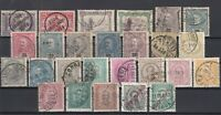 BN6730/ PORTUGAL – 1876 / 1905 USED CLASSIC LOT – CV 205 $