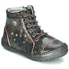 SALE -Kids's Catimini Chiton Bronze-Noir Lace-up Trainers/boots Size UK12 Euro31