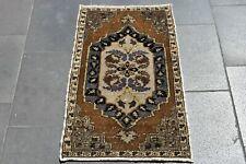 Turkish Handmade Decorative Rug Natural  Anatolian Doormat Rug 20 x 34 in Rug