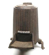 Antique 1865 Cast Iron 3 Leg Coal Stove w/ Lid Parlor Rail Car J.D. Lover N.Y.