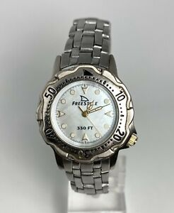 FREE STYLE Performance Timing STAINLESS STEEL MOP DIAL 10 ATM LADIES WATCH~NICE!
