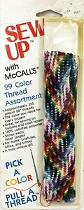 Vintage McCalls Package Assorted Thread Sew Up Pick a Color Pull a Thread