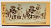 Italia Venezia Place Chiamato Arsenale Stereo Naya Vintage Albumina Ca 1865