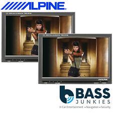 "Alpine TME-M780 Pair - 7"" Widesceen Car Monitor Dash Or Rear Headrest AV Screens"