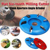 6 Zähne Power Holzschnitzerei Cutter Fräseinsatz für Winkelschleifer Werkzeug