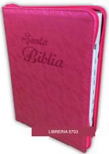 BIBLIA LETRA GIGANTE REINA VALERA 1960 CON INDICE CIERRE FUCSIA FLORAL 14 PUNTOS